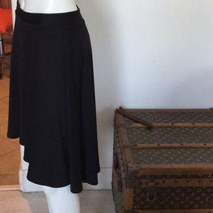 Anthropologie Tea n Rose black high low skirt